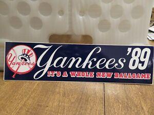 NEW YORK YANKEES '89 STICKER