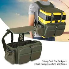 Fishing Tackle Seat Box Backpack Converter Camping Stool Seat Case Carrier Bag