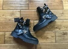 ZARA CROC MILITARY ANKLE LACE-UP BOOTS ALL SIZE UK4 UK5 RRP £69.99