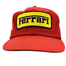 🧢 Vintage Ferrari Racing 90s Cap Hat Formula 1 Red Gold Patch Snapback R.O.C