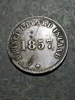 1857 CANADA PRINCE EDWARD ISLAND TOKEN  SELF-GOV  FREE TRADE  ***has issues***