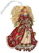 Red Angel Glitter Keepsake Ornament - LPG Box of 12 Christmas Cards