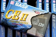 BASF CE II 120 LONG PLAY HIGH BIAS TYPE II BLANK AUDIO CASSETTE - 1995