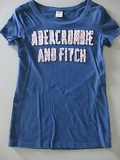 Abercrombie & Fitch T-Shirt/Top / Blue Pink White / Distressed / M / GREAT COND