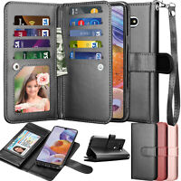 For LG Stylo 6 Leather Wallet Case Credit Card Flip Folio Kickstand Wrist Cover
