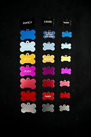 Large Medium Small BONE DOG PET ID Tags Engraved FREE Of Charge Free P&P