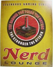 Tin Metal Sign classic nerd lounge cave man gaming center joy stick room 2232