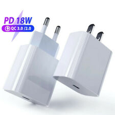 18W PD Cable Fast Charger 18W USB-C Power Adapter For Apple iPhone and iPad