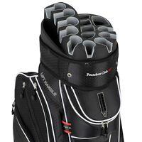 Founders Premium Cart Bag 14 Way Organizer Divider Top Black