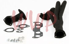 Black Coated Exhaust Header Kit For 96-00 Toyota Tacoma 2.7L 4WD/PreRunner 2WD