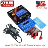 iMAX B6 80W 6A Battery Charger RC Balance Charger/AC Power Adapte/USA Plug