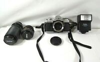 1980'S MILTOTA X-370 35M CAMERA W/50MM & MACRO ZOOM LENS WITH ORIGINAL CASE