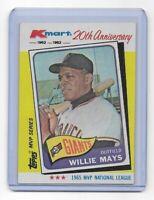 WILLIE MAYS ~ 1982 Topps Kmart 20th Anniversary #8 ~ San Francisco Giants HOF