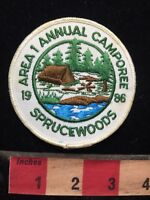 Vtg 1986 SPRUCE WOODS SPRUCEWOODS ANNUAL CAMPOREE BSA Boy Scouts Patch 70V7