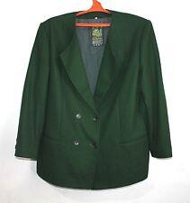 DACHSTEIN Pure Bouillie Laine Allemand robe manteau veste femme à rayures Vert 46