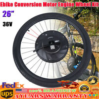 "Ebike Conversion Motor Engine Wheel Kit 36V 26"" Electric Bicycle With Battery"
