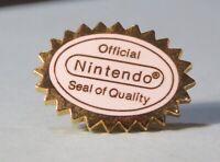 Nintendo Official Seal of Quality Pin Back Button Employee Promo NES era No box