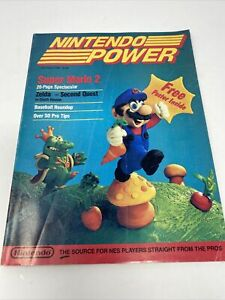 First Issue Nintendo Power Vol.1 July/August 1988 Super Mario 2 No Poster