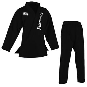 BJJ Gi Mens Kids Brazilian Jiu Jitsu Suit Jujitsu Uniform Adult Youth Blue Black