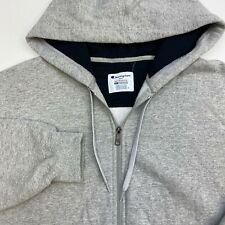 Champion ECO Full Zip Hoodie Men's Size 2XL Long Sleeve Gray Drawstring  Pockets