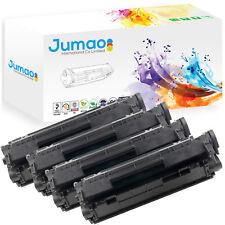 Lot de 4 Toners cartouches type Jumao compatibles pour HP LaserJet 1022, Noir
