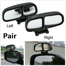2Pcs Left+Right Blind Spot Square Car Side Rear View Mirror Double Convex Mirror