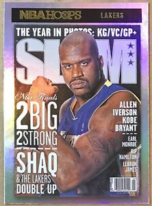 2020-21 PANINI NBA HOOPS SHAQUILLE O'NEAL #9 SLAM COVER INSERT HOLO GOLD SSP