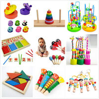 Wooden Toy Gift Baby Kids Intellectual Developmental Educational EarlyLearningNT