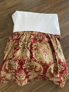 Ralph Lauren Jardiniere Red Paisley Sateen QUEEN BED SKIRT EXCELLENT NEVER USED