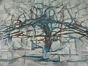 Horizontal Tree Piet Mondrian Print Vintage 52427