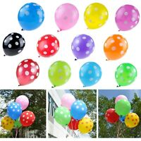 "100pcs 10"" Optional Plain Polka Dots Latex Balloons Wedding Birthday Party Decor"