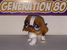 Littlest PetShop CHIOT SAINT BERNARD BLANC ET MARRON 76 H023 DOG CHIEN Pet Shop