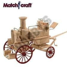 Horse Drawn Steam Fire Engine matchstick model construction craft kit Matchcraft