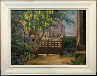 F.M. Greeves Oil Painting 1967 Vicarage Gate Oxenhope Yorkshire Bronte Moors