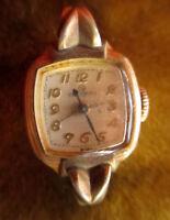Vintage 50s Ladies 10k RGP Watch for parts or repair Helbros