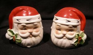 Santa Salt Pepper Shaker Christmas Ceramic Cute