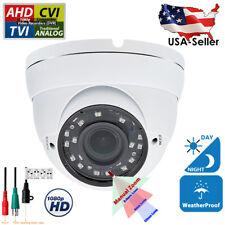 CCTV Security Camera Outdoor 1080p HD TVI CVI AHD Night Vision Manual Zoom Lens