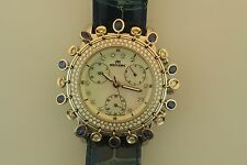 MEYERS STEEL WATCH DIAMOND BEZEL AND MOTHER PEARL DIA. FACE