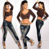 Sexy Women Clubbing Pant Skinny Leg Jeans Leo Ladies Trouser Size 6 8 10 12 14 S