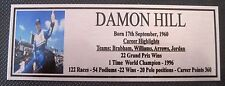 DAMON HILL Picture Sublimated Gold Plaque 140x50