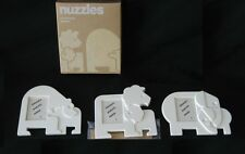 Tupperware NUZZLES Photo Frame Magnets Set Lion Bear Elephant with their babies