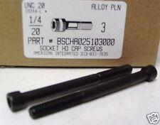 1/4-20x3 Hex Socket Head Cap Screws Alloy Steel Black (15)