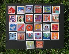 """phish alPHabet MAGNETS 2""""x2"""" full set of 26 letters  ( by KERRIGAN )"""