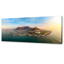 ICONIC CAPE TOWN SOUTH AFRICA PANORAMIC BOX CANVAS PRINT WALL ART PICTURE