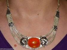 Markenlose Halsketten und Anhänger aus Edelsteinen mit Bernstein für Damen