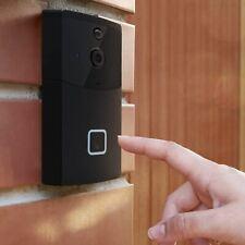 Aquarius Smart Wirless Video Doorbell in Black. AQSVDBK