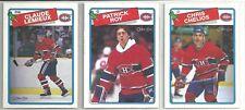 1988-89 O-PEE-CHEE Hockey Montreal Canadiens 14-card Team Set Patrick Roy