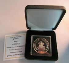 More details for 2002 god save the queen proof st helena 50p fifty pence crown coin box & coa