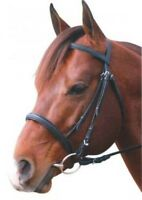 Eureka Leather CNB Snaffle Bridle & Reins Pony Cob Or Full Size ~ Black~Brown