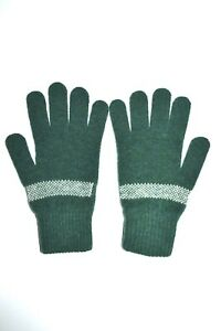Paul Smith Mainline Peace And Love Green Wool Gloves Mens Brand New